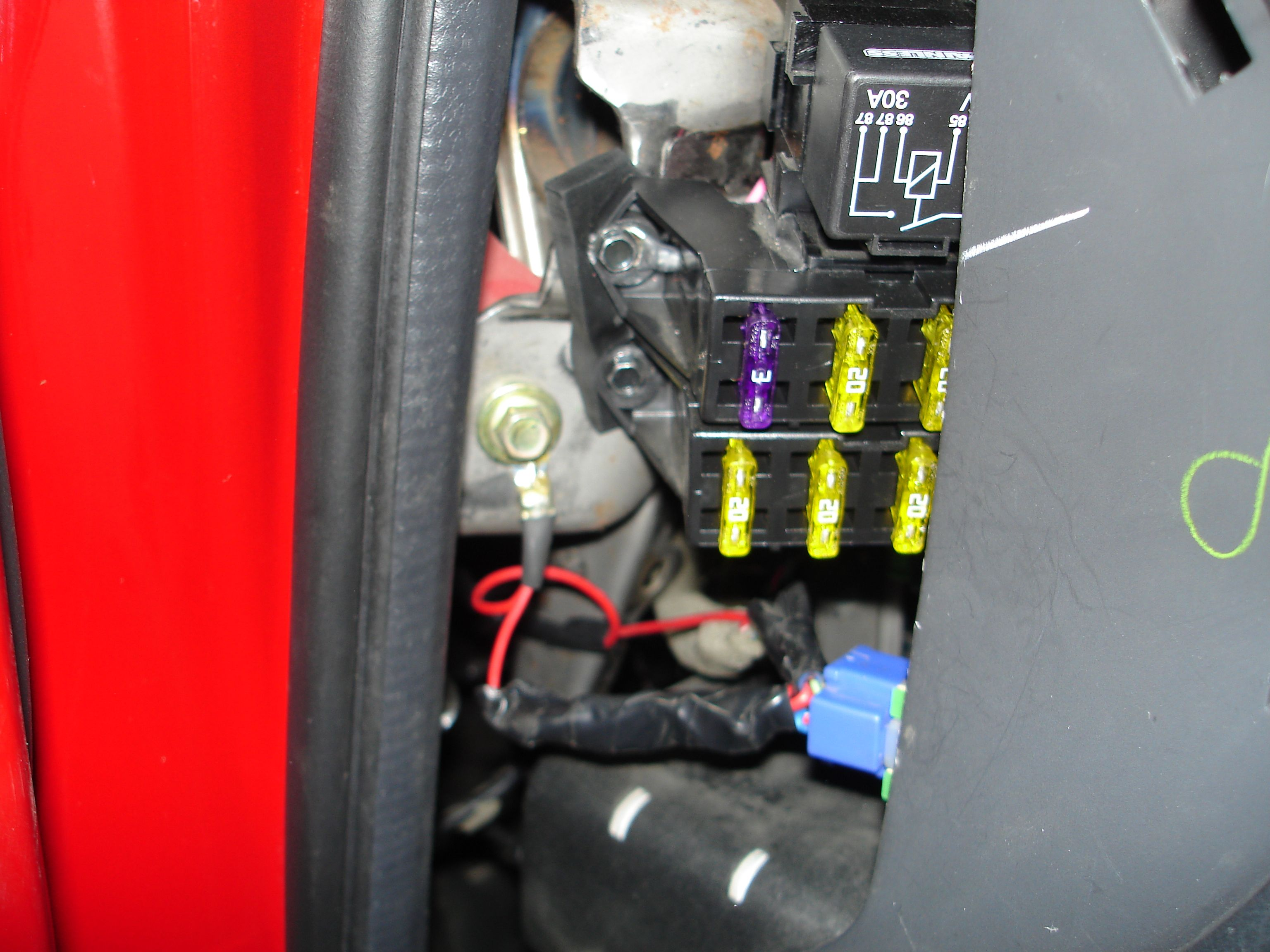 Maxx Mazdas 2011 Build Thread Beyondca Car Forums Painless Wiring Auxiliary Fuse Block Aux Panel Drivers Side