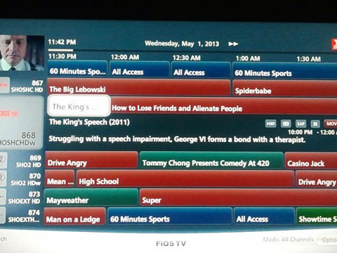 tv guide. actor names keep disappearing. - verizon fios community