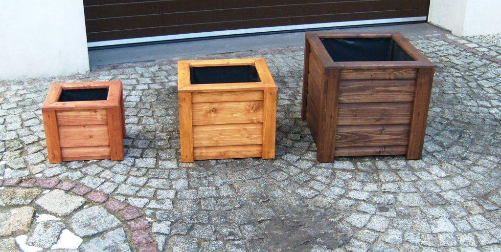 blumenkasten blumentopf pflanzkasten pflanzk bel aus holz quadratisch ebay. Black Bedroom Furniture Sets. Home Design Ideas