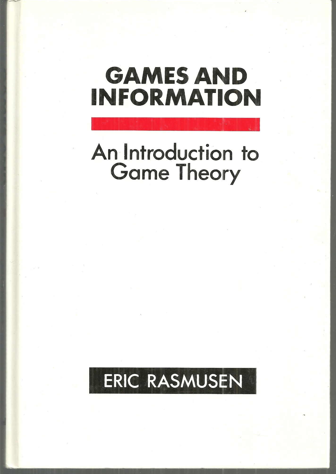 Games and Information, Rasmusen, Eric