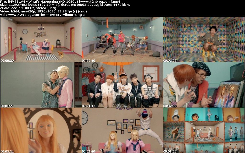 [MV] B1A4 - What's Happening [HD 1080p Youtube]